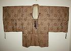 Edo Costume of the court noble of silk donsu textile