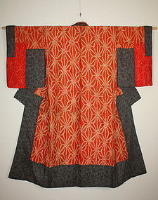 Eso benibana-dye -shibori yosegire kimono textile