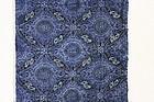 Meiji katazome indigo dye cotton  high quality