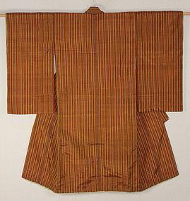 Meiji AkitaHatijyou-silk Stripe Kimono