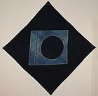 Edo Indigo Cotton Furosiki Rare family coat of arms