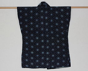 Edo Indigo Katazome Hanjyuban thick Cotton