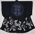 Edo Tsutsugaki Indigo dyeing Cotton Yogi Kimono