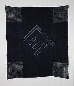 Meiji Indigo thick cotton Sasiko Furosiki Hand-spun