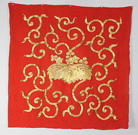 Edo Benibana- dyeing Gold embroidery luxurious Fukusa