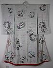 Meiji Rinzu-Silk Utikake embroidery Free-hand Painting