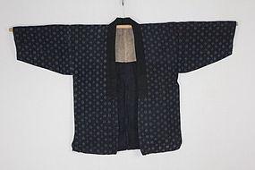 Meiji Katazome Indigo Hemp Noragi Tohoku district