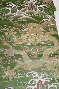 Meiji Silk Nisijin- texture Gorgeous Dragon.