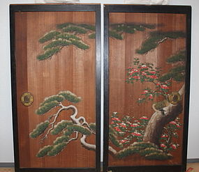Edo Imperial Palace use Kano group Sugido-e Very rare