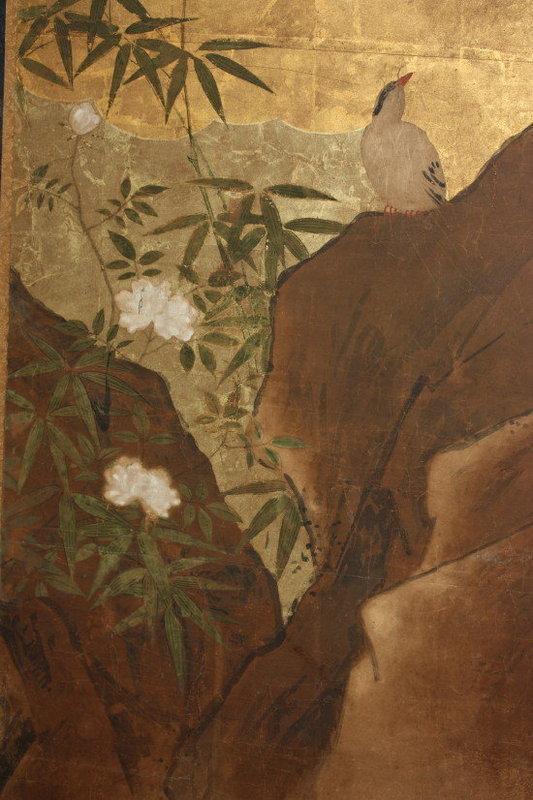 Edo Picture Hanabusa-Itcho Very rare screen Kano group.