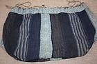 Beautiful hand-spun katazome cotton komebukuro-bag of Edo era