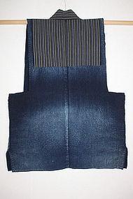 antique boro Indigo dye syonai sashiko hand-Stitch noragi Meiji era