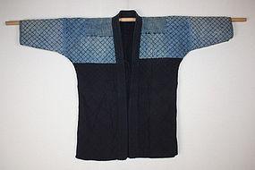 antique boro Indigo dye cottonPatched sashiko Stitch noragi