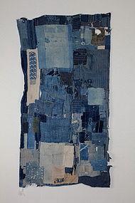 Edo � Meiji Indigo Sashiko-stetch Cotton Boro Futon-cover