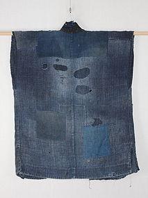 Edo Boro hemp Indigo Patched-Noragi