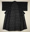 Japanese  antique natural indigo dye silk old kasuri kimono