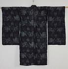 Edo Indigo Kasuri Etigojyofu-hemp Crane Child kimono