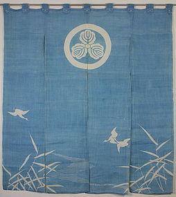 Taisho Jyofu-hemp Tsutsugaki Hand-spun Noren