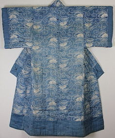 Edo Hemp Indigo Katazome Yogi Hand-spun Rare