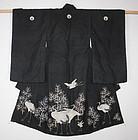 Edo Child Kimono Tsumugi-silk