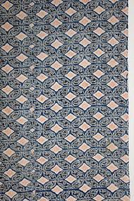 Edo Indigo Katazome Cotton Polychromatic Shippo Amaryu Hand-spun