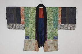 Edo Silk Tugihagi Haori Katazome Textile.