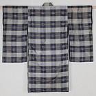 Edo Indigo Kasuri Kaiki-Silk Child Kimono High-quality