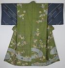 Edo Yuzen Polychromatic dyeing Silk Hand-spun Kimono Boro