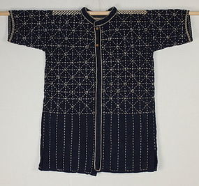 Taisho Indigo Sashiko Dogi-Martial arts clothes Hand-spun Thick.