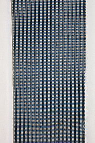Edo Indigo Cotton Koyori-Paper Shonai-Obi Stripe Thick.
