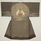Taisho Silk Rabbit on the moon kimono.
