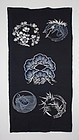 Edo Tsutsugaki Indigo Cotton Original Futon- cover Thick Hand-spun