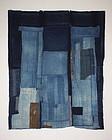 Japanese Antique boro Indigo dye cotton Patched futon cover meiji