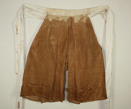 Japanese Vintage Textile hemp kakishibu-dye Pilgrim's pants with Sutra