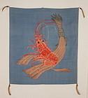 Edo Kake-Fukusa Tsutsugaki Embroidery Kabetirimen-silk Luxurious.