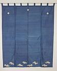 Edo Uchisiki Tsumugi-silk Indigo plant Yuzen Freehand drawing dyeing.