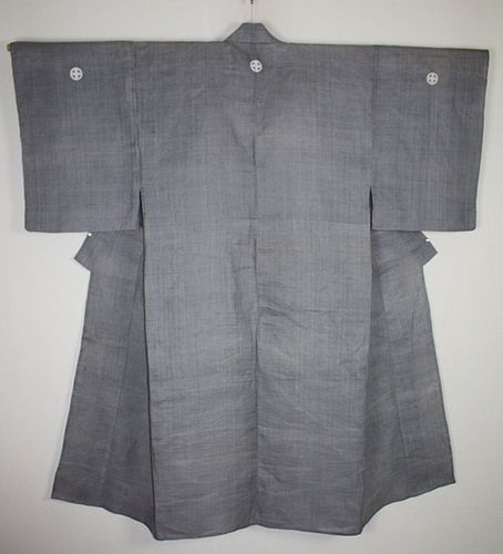 Japanese antique (hemp or ramie) samurai kimono Family coat of shimazu