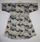 Taisho Muslin Kimono Cormorant fishing.