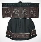 Japanese antique good-quality different colors shibori Tie-dye jyuban
