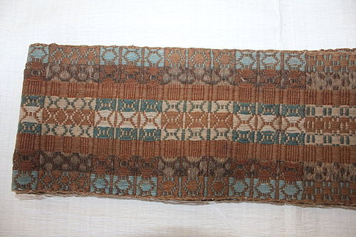 Edo Kara-Momen(China-Cotton) Obi- belt A textile Natural dye Rare Thic