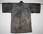 Japanese Antique Edo Antique fireman's sashiko tsutsugaki coat dragon