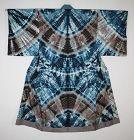 Japanese antique silk An artistic pattern  shibori (Tie-dye) kimono