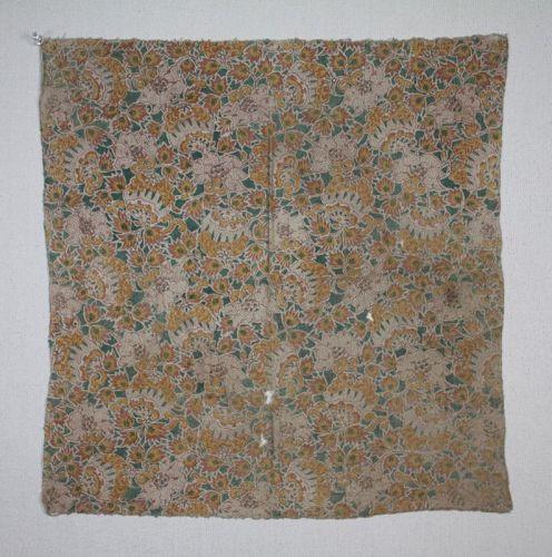 Japanese antique sakai-sarasa katazome furoshiki Edo Period bunkyu1862