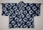 Japanese antique natural indigo dye cotton shibori (Tie-dye)hanjyuban