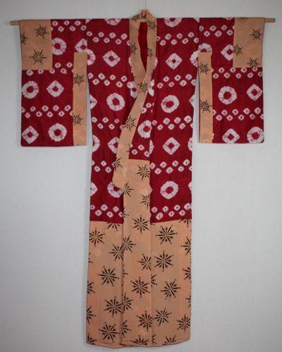 Japanese antique Meiji period(1868-1912) shibori (Tie-dye) & katazome