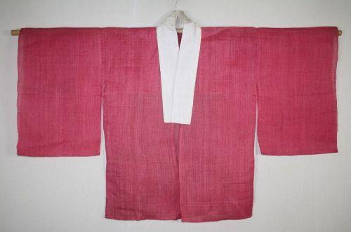 Japanese antique Hemp Safflower dyeing han jyuban