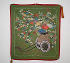 Japanese antique Edo Period yuzen dye & embroidery Excellent  fukusa