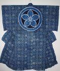 Japanese Edo Excellent beautiful Indigo dye cotton Katazome Yogi