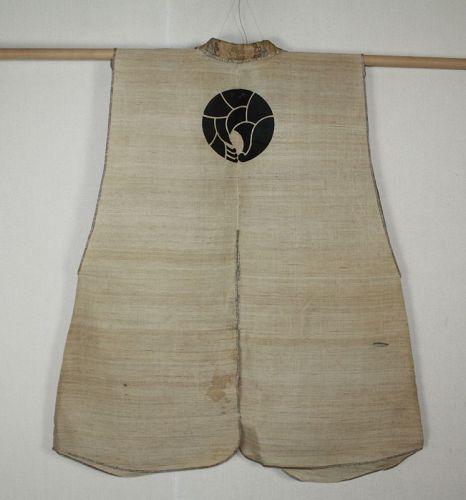 Japanese antique edo piriod samurai Jinbaori kuzu-fu cloth textile