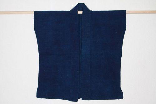 Japanese  thick handspun & natural indigo dye cotton noragi hanten